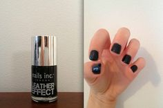 Alexa Chung Leather Nails—Leather Nails - Cosmopolitan