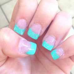 teal tips, omg want. <3