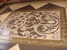 Hand painted floor by Brooks Tucker of Bella Tucker Decorative Finishes