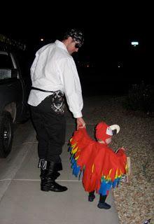 Homemade Baby Parrot Costume