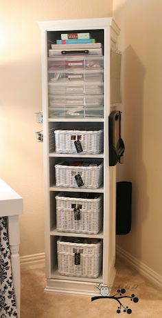 Not a page idea but I love this storage idea. Could store a ton in a small space! Scrapbooking Organizing Tower - Swivels 360°