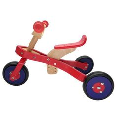 Z  The ZUM Wooden #Tricycle is ideal for kids 2-6 years old. Kids will enjoy hours of fun and the excitement of riding. It has no pedals and no training wheels. The rider uses a foot to ground motion, as if walking or running, to move themselves and the tricycle forward. The ZUM tricycle is great for learning how to steer and developing coordination and motor skills. Watch your child walk, run, then ZUM around on the tricycle at the park or neighborhood with a big smile. Kids will love to…