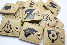 The Legend of Zelda DEATH NOTE Suicide Squad TOTORO Short Wallet Purse Bag  Holder Layers Button Zipper Wallets 30 style #Affiliate