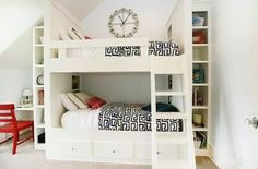 built in bunk bed | kids room with built in bunk beds