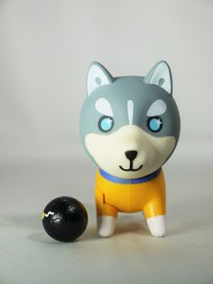 HUSKY x 3 HUSKYx3 Vinyl Figure Collection Series 8 Goal Husky Aorme Brazil Yellow No. 10