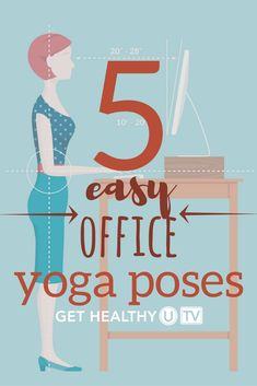Check out these 5  easy (and discreet!) office yoga poses you can do at your desk or chair for a nice mid-day pick-me-up. Chris will lead you through a minute of deep breathing to start and then guide you through each pose, asking you to hold each for about a minute.