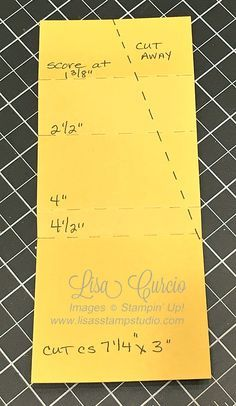 cut and score instructions for pleated fold card by Lisa Curcio