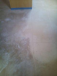 Limestone floor restoration Project Saffron Walden...