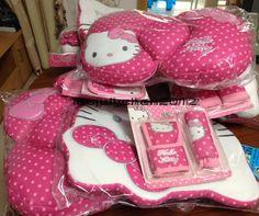 107 23PC Hello Kitty Cute Car Seat Cover Cushions Pillow Steering Wheel