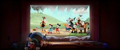 """Scenes I contributed CG animation to in Disney's """"Get a Horse!""""  - 2D animation by Dale Baer (Pete in car) and Mark Henn (group finale.) - CG Horace…"""