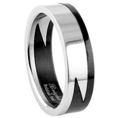 Lightning Style Biker Ring Gothic Stainless Steel