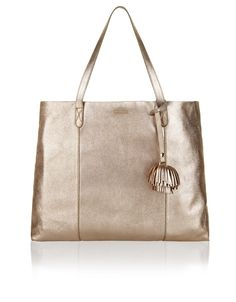 A bag to wear forever: our Vivien metallic leather shopper is designed with a…