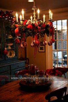 Christmas Kitchen Decor With French Country Elegance: Best Ideas About Christmas Chandelier Decor On Indoor Christmas Decorations, Christmas Tree Themes, Noel Christmas, All Things Christmas, Christmas Lights, Christmas Wreaths, Christmas Crafts, Christmas Chandelier Decor, Christmas Train