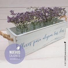 Cajón vintage | Flores - comprar online