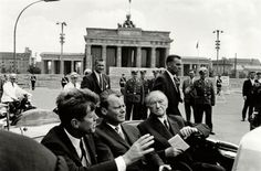 Chancellors Adenauer and Brandt with President Kennedy before his Berlin speech in June 1963