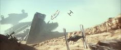 Millenium Falcon in Jakku - Star Wars the force awaken