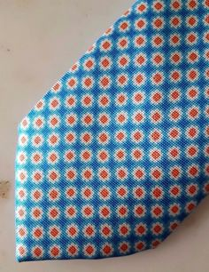 Fiorio Milano SS17 Blue Orange Luxury necktie 100% Genuine silk Made in Italy | Clothing, Shoes & Accessories, Men's Accessories, Ties | eBay!