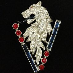 Trifari 'Alfred Philippe' Large WW2 Patriotic British Lion of Victory Pin