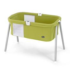 The Chicco LullaGo is a compact and stylish portable bassinet that sets up in less a minute!