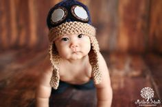 ~~~Please see my shop announcement on my shop front page for my current production time!!~~~~~~~~~    The Chunky Aviator or Flying Ace Hat/ Helmet