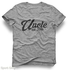 Uncle Est. 2016 (ANY YEAR) - Adult Short Sleeve Tee