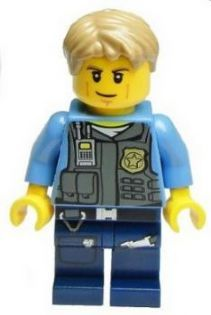 Minifig cty356 : Police - LEGO City Undercover Chase McCain, Dark Blue Legs [Town:City:Police] - BrickLink Reference Catalog