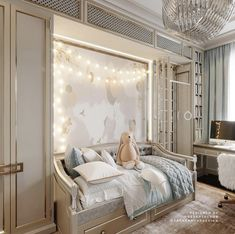 Fun and Original Ideas for Boy's Bedroom Decor – Voyage Afield Kids Room Design, Interior Design Living Room, Baby Room Decor, Bedroom Decor, Little Girl Rooms, Interior Exterior, Luxurious Bedrooms, Bedroom Colors, Luxury Furniture
