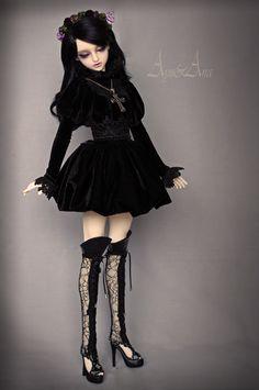 Gothic Lady dress set by AyuAna on deviantART