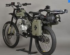 Rugged Motorized Bicycles - The Motoped Survival Bike is Fit for a Savage Apocalypse (GALLERY)