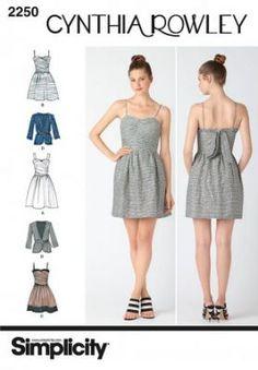 7544 Simplicity Schnittmuster Kleid und Jacke