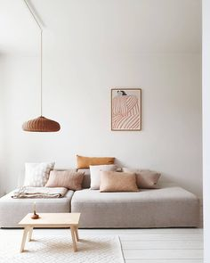 "Mamoesjka on Instagram: ""Lievelings kleuren ⋒"" Home Living Room, Living Room Decor, Kitchen Living, Dining Room, Nordic Living Room, Minimalist Interior, Modern Scandinavian Interior, Living Room Inspiration, Sofa Design"