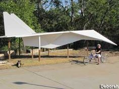 Roadside Attraction along I20 in Abilene, TX - World's Largest Paper Airplane