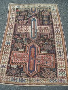 Antique Caucasian Shirvan Rug, dated in several places