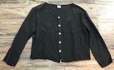 CP Shades Long Sleeve Shirt Black Button Down Womens Sz S* #CPShades #ButtonDownShirt