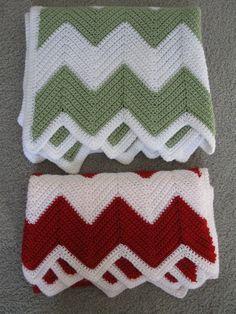 Easy Crochet Blanket Chevron Pattern PDF for by KathieSewHappy #Easycrochetblankets