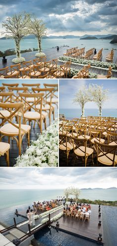 Originally from Sydney but based in New York, Jeremy and Bibi decided to have a tropical destination wedding at Sri Panwa in Phuket, Thailand. Just 2 months before their wedding, they realised they needed help and called upon Chonlada and May of The Bridal Planner who quickly put together a ceremony featuring an arch made from trees of white florals which complemented the breathtaking backdrop of the surrounding islands and Andaman Sea...