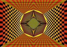 Pôster O Portal - Simbologia: Pôster O Portal é uma composição abstrata baseada na geometria sagrada.