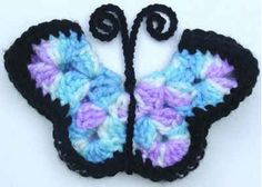 Best Free Crochet » Free Crochet pattern Monarch Butterfly Fridgies #30