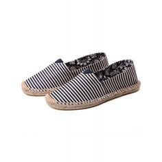 Dresslink - Dresslink Casual Slip-On Canvas Espadrille Flat Shoes - AdoreWe.com