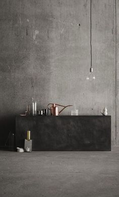 Concrete in the kitchen / via Coco Lapine Design