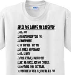 dating-romance-2u: Rules For Dating My Daughter Funny Fathers Day Dad...
