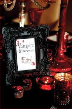 Halloween Wedding Reception Idea//not for a wedding, but a party theme lol