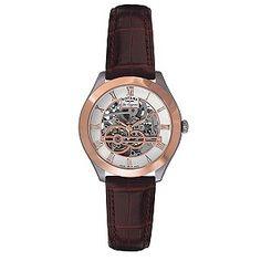 Ernest Jones - Rotary Jura men's brown leather strap watch