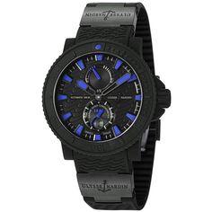 Ulysse Nardin Men's 263-92-3C/923 'Black Sea' Black/Blue Dial Rubber Strap Watch | Overstock.com Shopping - The Best Deals on Ulysse Nardin Men's Watches