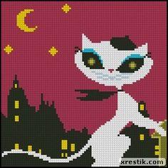 Cat scheme download lentyaychiki cat animal embroidery