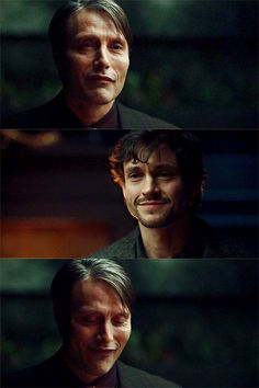 Hannibal and Graham. Hannibal Lecter Series, Nbc Hannibal, Bryan Fuller, Will Graham, Gotham, Hugh Dancy, Sherlock, Mads Mikkelsen, Beautiful Men