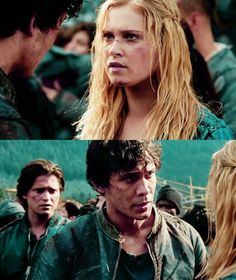 Bellamy and Clarke tumblr #The100 #Bellarke hehe the way Finn be looking at them like he has no chance