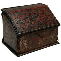 1stdibs.com | 19th C. French Boulle Style Writing Box With Inkwell