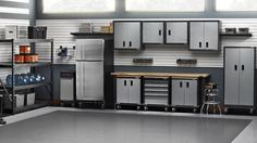 What is the easiest way to add more space to your house? Of course the answer is to remodel your garage. Gladiator Garage Storage, Storage Shed Organization, Tool Storage, Gladiator Garageworks, Garage Packages, Metal Storage Sheds, Garage Systems, Converted Garage, Farmhouse Architecture