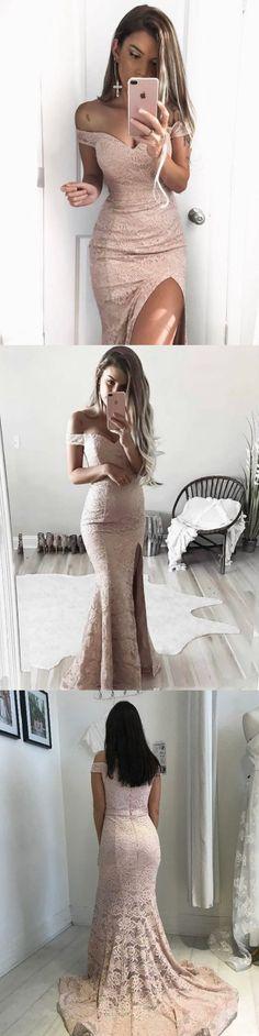 Chic Prom Dress Trumpet/Mermaid Short Train Slit Sexy Prom Dress/Evening Dress P2334